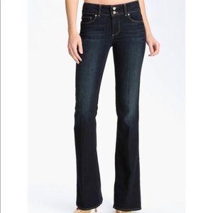 Paige Hidden Hills Petite flare bootcut jeans